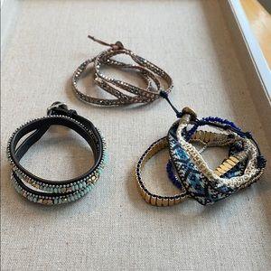 3 wrap bracelets